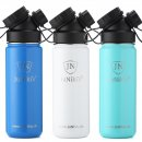 INSULATED STAINLESS STEEL FLASK // 18OZ // 2nd FLASK