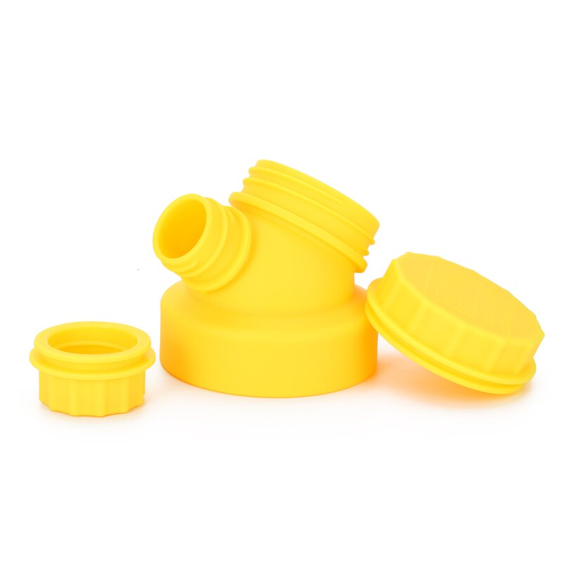 JuNiki´s innovative cap for wide mouth bottles - Yellow