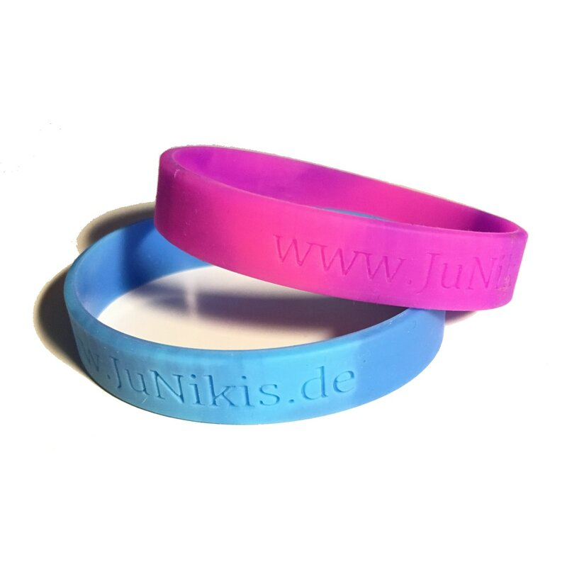 SILICONE BRACELETS // BLUE + PURPLE