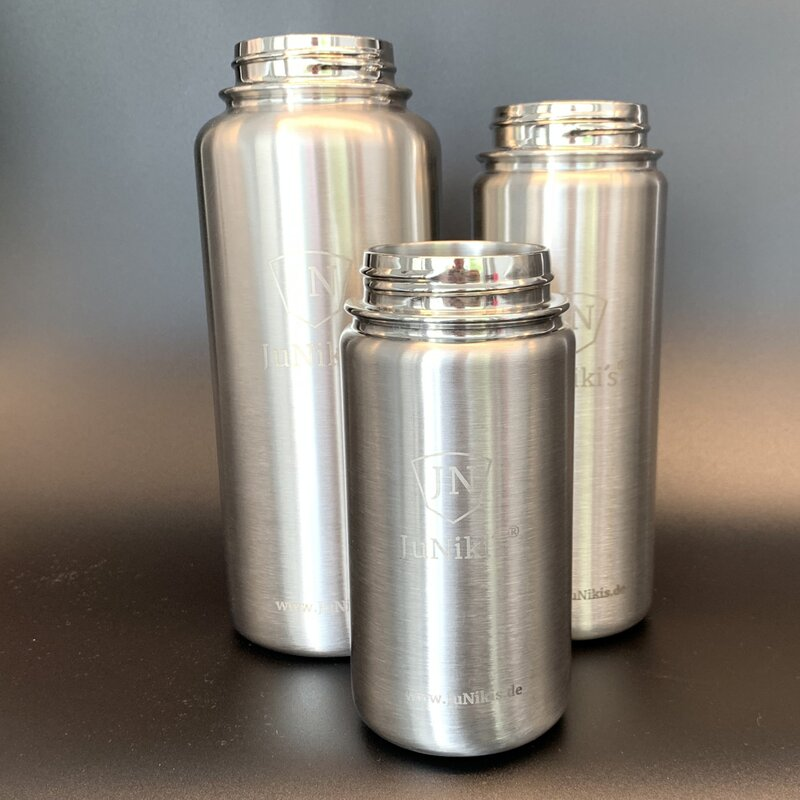 JuNiki´s® eco line set stainless-steel vacuum-insulated bottle bodies 32/18/14oz