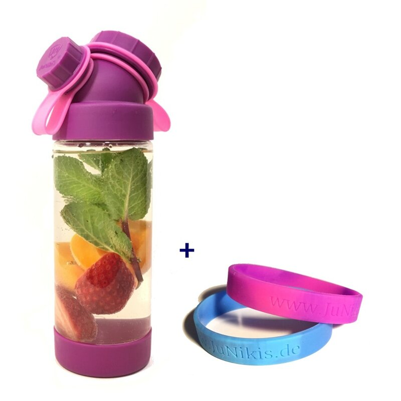 TRITAN // 13,5OZ // SET WITH SILICONE BRACELETS //  PURPLE + 2 BRACELETS