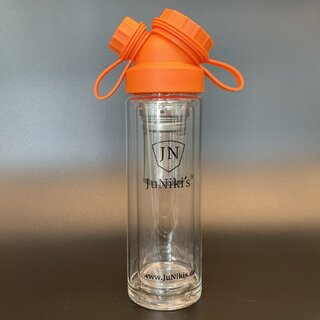 JuNiki´s®  Tea to go Thermosflasche aus Glas - handmade -...
