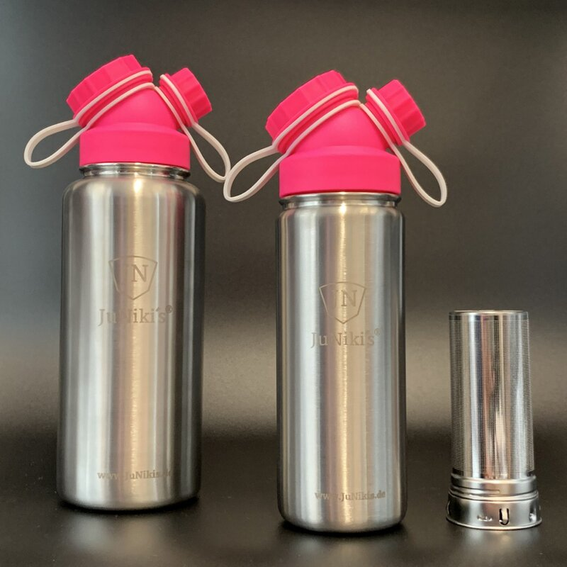 JuNiki´s® eco line insulated flask 18/32 oz including tea filter