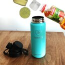 INSULATED STAINLESS STEEL FLASK // 18OZ // TURQUOISE