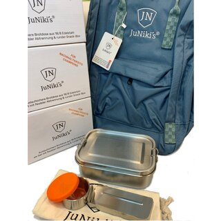 4 JuNiki´s® eco line Edelstahl Lunchbox Sets + 1...