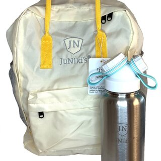 RPET: Sustainable JuNikis® Backpack + flask