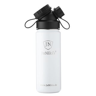 INSULATED STAINLESS STEEL FLASK // 18OZ // WHITE