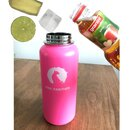 INSULATED STAINLESS STEEL FLASK // 32OZ // PINK PANTHER
