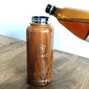 INSULATED STAINLESS STEEL FLASK // 32OZ // TEAK