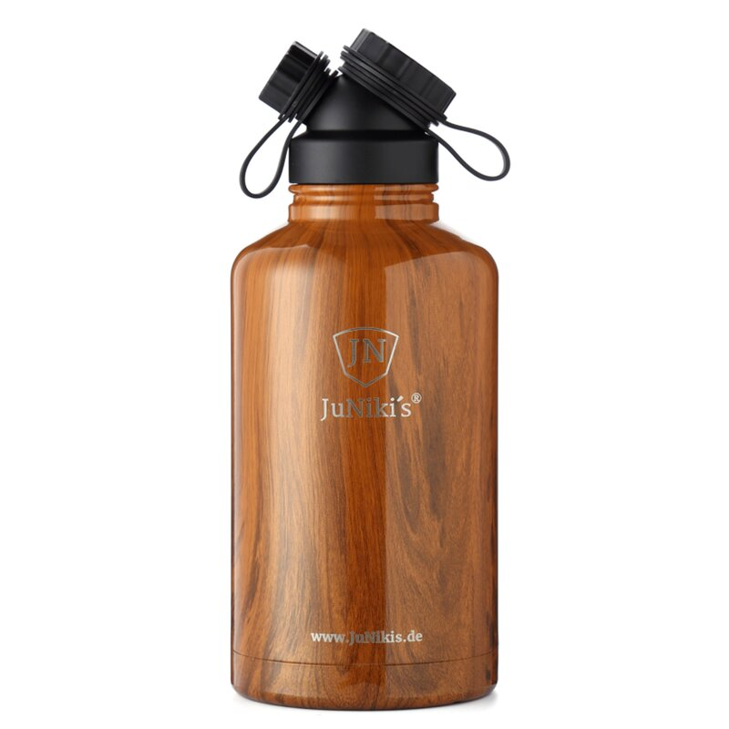 INSULATED STAINLESS STEEL FLASK // 64OZ // TEAK