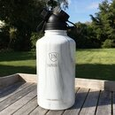 INSULATED STAINLESS STEEL FLASK // 64OZ // WHITE MARBLE