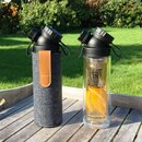 BOROSILICATE GLASS // 11OZ // DOUBLE WALL + TEA-INFUSER