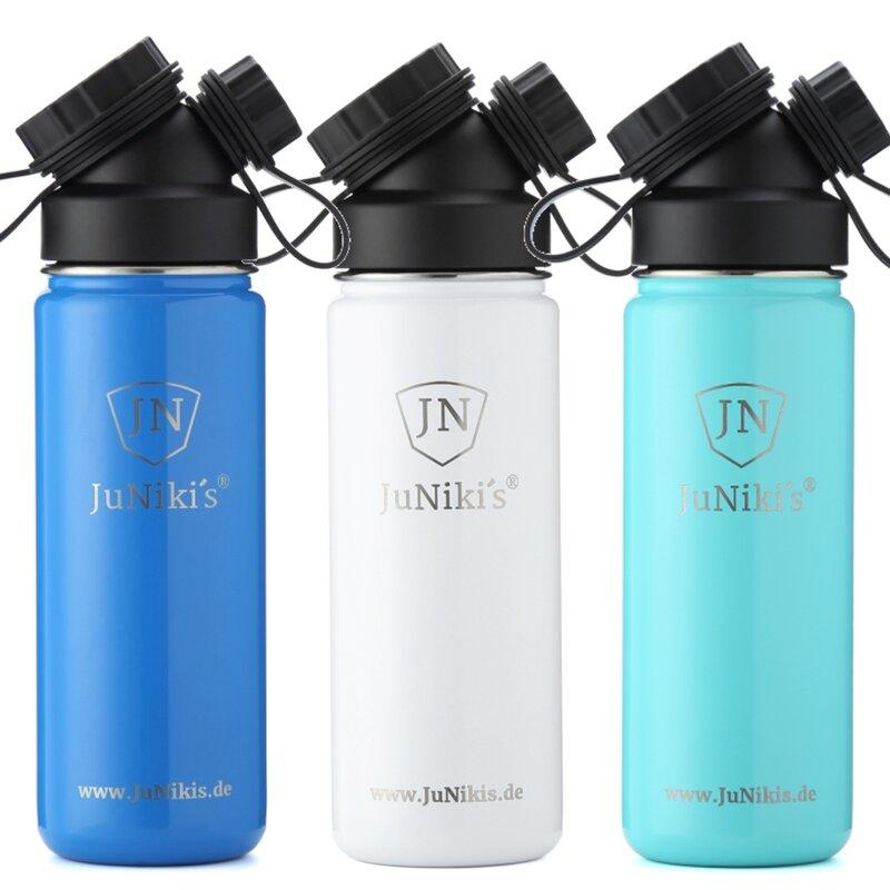 13aceb0d6e2c62 3er Set  Drei 550ml Trinkflaschen aus Edelstahl Vakuum-isoliert - Farbe  nach Wahl