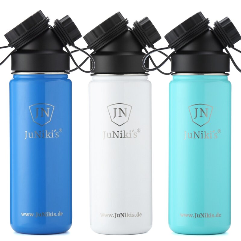 INSULATED STAINLESS STEEL FLASK // SET // 3 FLASKS 18OZ (color of choice)