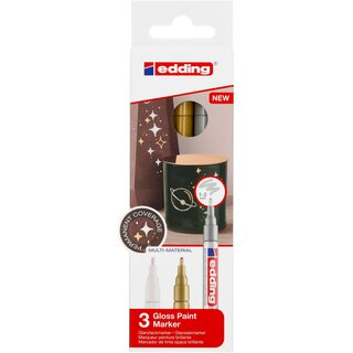 edding 751-3 Glanzlackmarker Set metallic