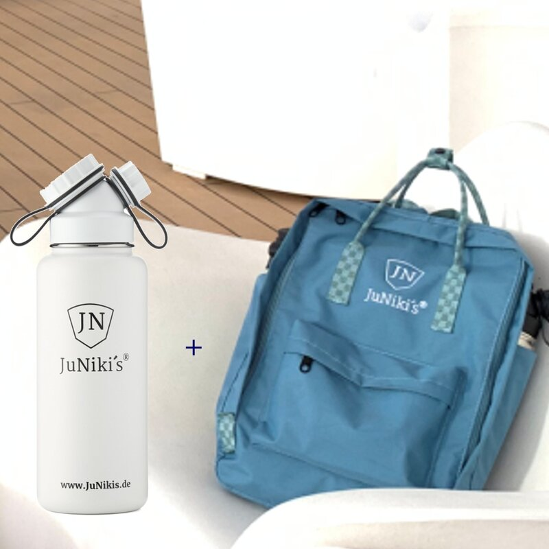Promotional-Sets with 30 EUR Benefit: JuNiki´s Backpack and 32oz insulated stainless steel flask White Angel