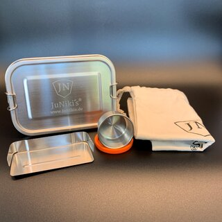 Set: JuNiki´s® eco line stainless-steal lunchbox +...