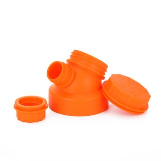 JuNiki´s innovative cap for wide mouth bottles - Orange